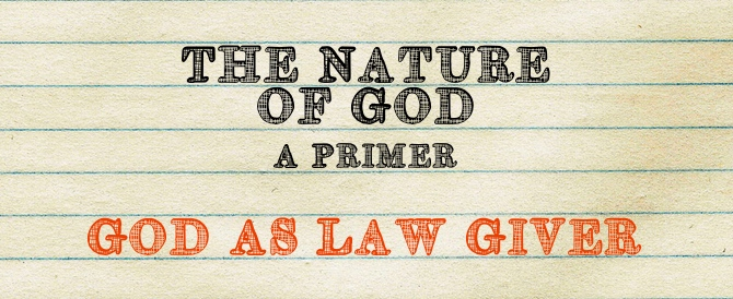 God As Lawgiver