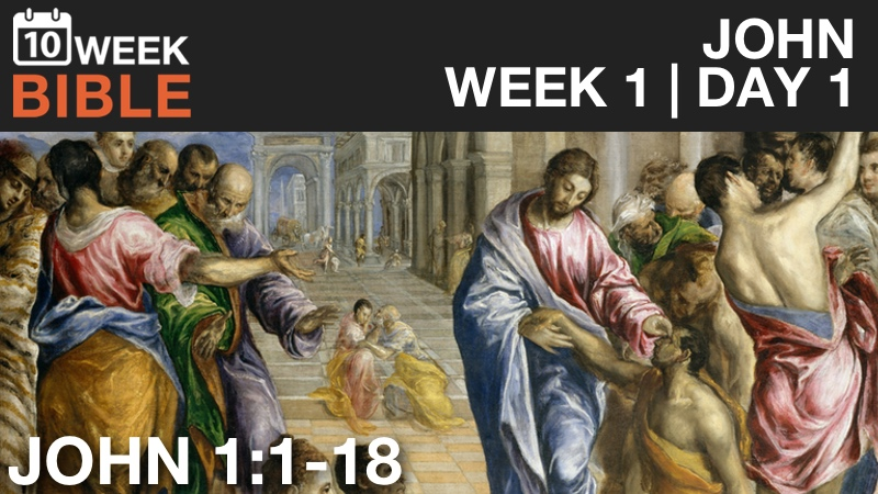 Video Study of John  |  Week 1 Day 1